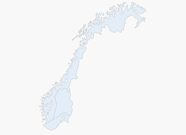 Weather map of Norway
